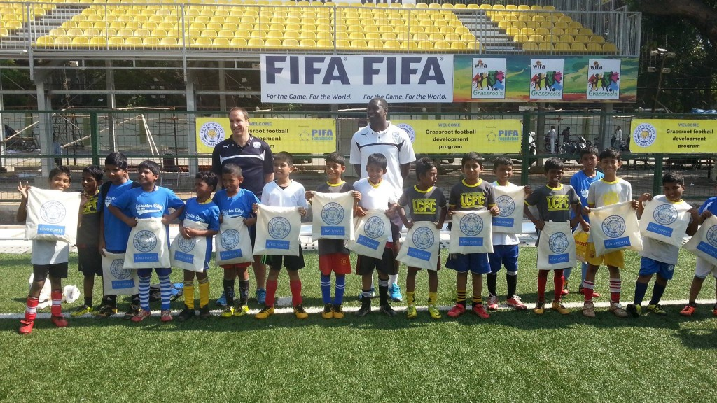 Emile Heskey & Leicester City FC spend 4 days with PIFA Foundation children in December 2014.