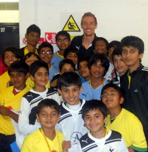 Meeting Peter Crouch - England & Tottenham