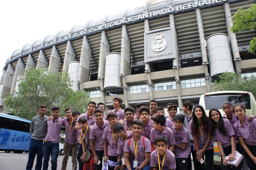 PIFA campers watch Real Madrid win at the Santiago Bernabéu.