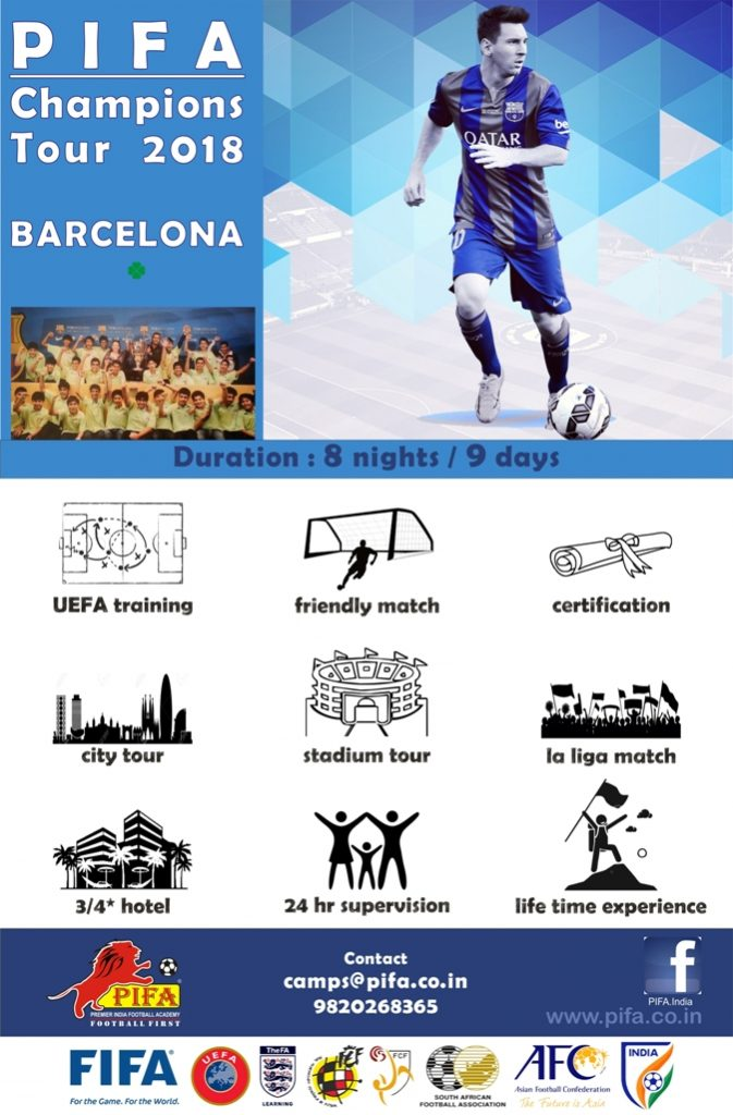 PIFA Champions Tour 2018 to Barcelona